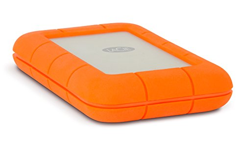 LaCie Rugged 2TB Thunderbolt and USB 3.0 Portable Hard Drive + 1mo Adobe CC All Apps (LAC9000489),Orange