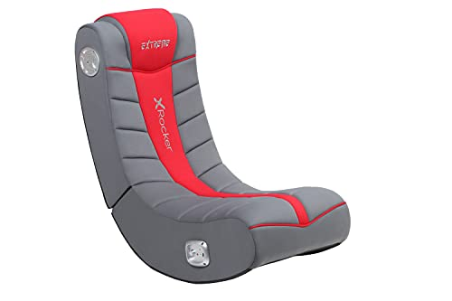 X Rocker, 5149101, Extreme III 2.0 Gaming Rocker Chair with Audio System, 26 x 17.5 x 17, Black/Red