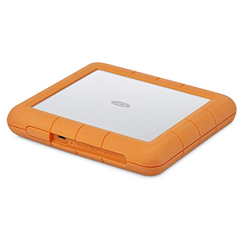 LaCie Rugged Raid Shuttle 8TB External Hard Drive Portable HDD - USB-C USB 3.0 Compatible, Drop Shock Dust Water Resistant, for Mac and PC Computer Desktop Laptop, 1 Mo Adobe CC (STHT8000800)