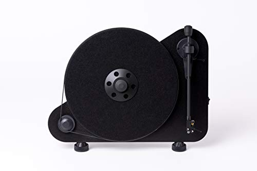 Pro-Ject VT-E R (OM5e) - Black Vertical Turntable, Black/Matte