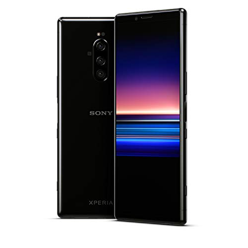Sony Xperia 1 Unlocked Smartphone 6.5' 4K HDR OLED CinemaWide Display, 128GB - Black - (US Warranty)