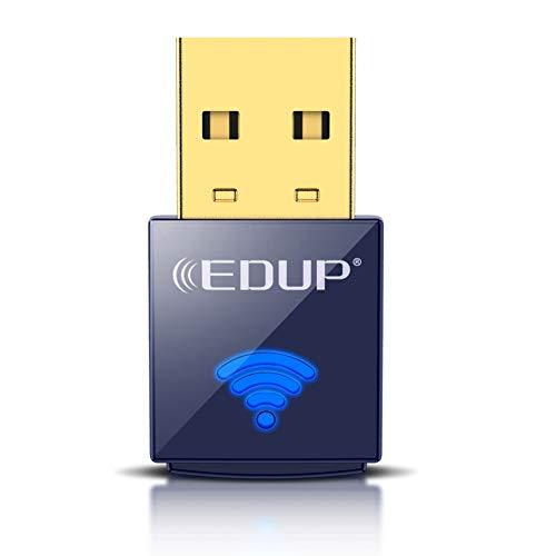 EDUP USB Bluetooth WiFi Adapter, Wireless Nano USB Network Adapter for Laptop Desktop PC Wi-Fi Dongle Compatible with Windows 10/7/8/8.1/XP Mac OS X 10.6 - 10.15.3