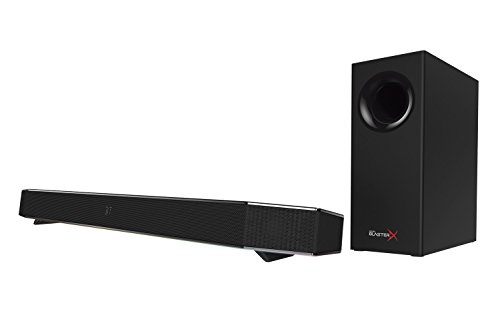 Sound BlasterX Katana Multi-Channel Surround Gaming and Entertainment Soundbar - Hardware Processing, Supports Dolby Digital 5.1 Decoding, Bluetooth-Enabled, for PC, Mac, PS4, and Other Consoles