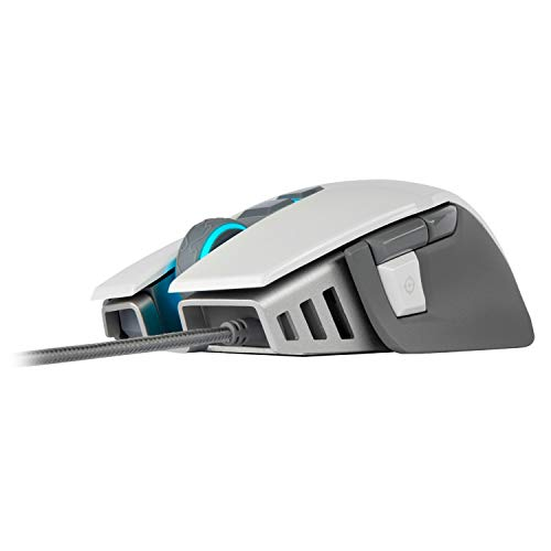 Corsair M65 Elite RGB Optical FPS Gaming Mouse (18000 DPI Optical Sensor, Adjustable Weights, 8 Programmable Buttons, 3-Zone RGB Multicolour Backlighting, Xbox One Compatible) - White