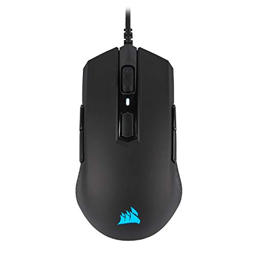 Corsair M55 RGB Pro Wired Ambidextrous Multi-Grip Gaming Mouse - 12,400 DPI Adjustable Sensor - 8 Programmable Buttons - Black