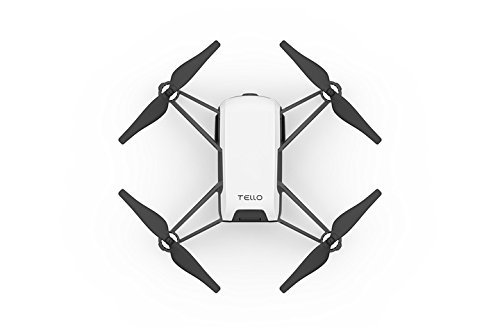 Tello Quadcopter Drone with HD Camera and VR,Powered by DJI Technology and Intel Processor,Coding Education,DIY Accessories,Throw and Fly (Without Controller) (Renewed)