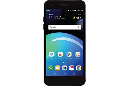 LG Phoenix 4 X210, 5' Full HD Display, (16GB, 2GB RAM), Dual Camera, 2500 mAh Battery, Android 7.1 Nougat, 4G LTE, GSM Unlocked Smartphone, Titan Black