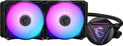 MSI MAG Series RGB CPU Liquid Cooler (AIO): Rotatable Blockhead Design, 240mm Radiator, Dual 120mm RGB PWM Fans, MAG CORELIQUID 240R