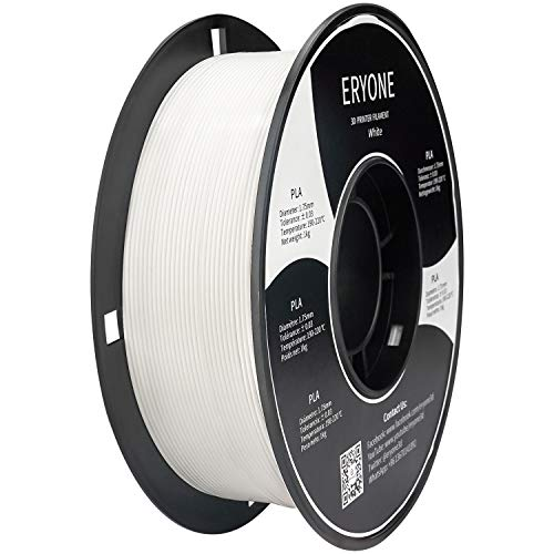 ERYONE PLA 3D Printer Filament 1.75mm, Dimensional Accuracy +/- 0.05 mm 1kg (2.2LBS)/Spool, White