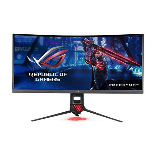 "ASUS 35"" Curved Gaming Monitor UWQHD 1440p 100Hz DP HDMI Eye Care FreeSync/Adaptive Sync (ROG Strix XG35VQ)"