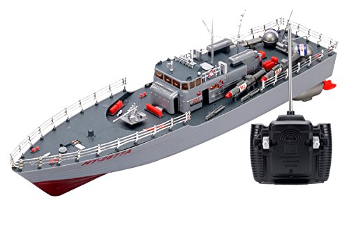 Extreem Hobby RC Missile Warship Radio Remote Control HT-2877 RTR Ship Battleship Cruiser