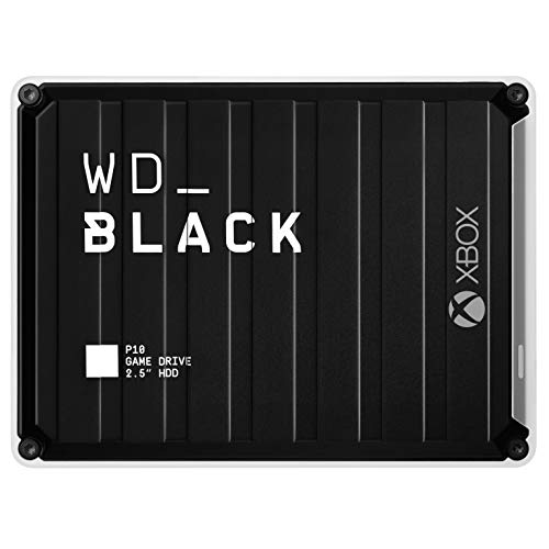 WD_Black 5TB P10 Game Drive for Xbox One, Portable External Hard Drive HDD with 1-Month Xbox Game Pass - WDBA5G0050BBK-WESN