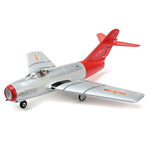 E-flite RC Airplane UMX MiG-15 28mm EDF Jet BNF Basic (Transmitter, Battery and Charger not Included) with AS3X and Safe Select, 411mm, EFLU6050