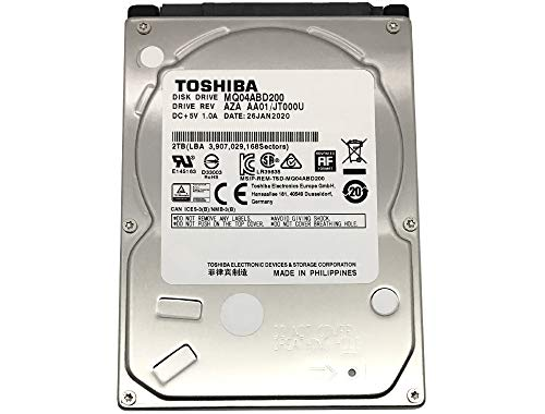 Toshiba 2TB 5400RPM 128MB Cache SATA 6.0Gb/s 2.5inch PS4 Gaming Hard Drive - 3 Year Warranty