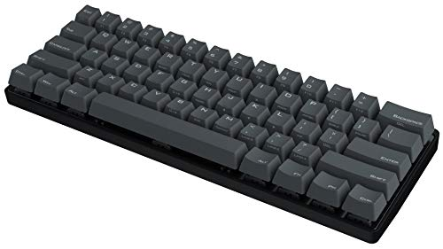 Vortexgear Pok3r 60% Ultra Compact Mechanical Gaming Keyboard - KBC Poker 3 - 61 keys PBT Laser Etched Keycaps - PC / Mac / Linux - Programmable [Metal Casing] Tactile ( Cherry Mx Clear, Black)