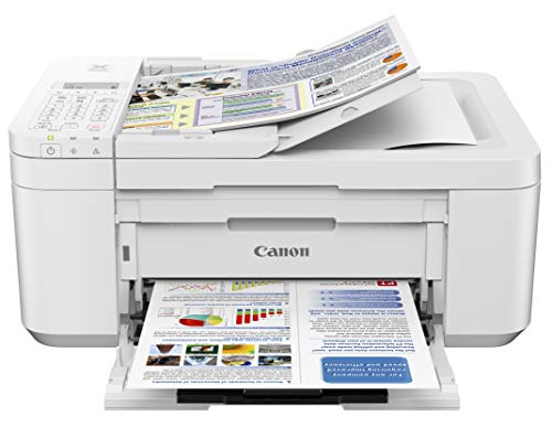 Canon PIXMA TR4520 Wireless All in One Photo Printer with Mobile Printing, White, Works with Alexa