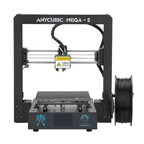ANYCUBIC Mega S Upgrade FDM 3D Printer with Extruder and Suspended Filament Rack + Free Test PLA Filament, Works with TPU/PLA/ABS and 8.27''(L)x8.27''(W)x8.07''(H) Print Size