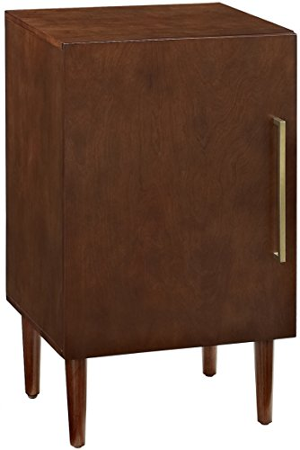 Crosley Furniture Everett Mid-Century Modern Record Player Stand, Mahogany
