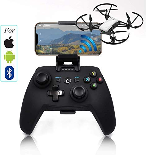 TOMAT S1D Wireless Mobile Phone Controller Joystick for Tello Spark Drone Remote Controller (for Apple/Android/Bluetooth System)