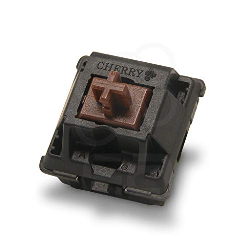 Cherry MX Brown Key switches (10 Pieces)- MX1AG1NN | Plate Mounted | Tactile Switches for Mechanical Keyboard.