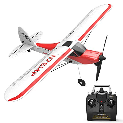 VOLANTEXRC RC Airplane 2.4Ghz 4-CH with Aileron Sport Cub 500 Parkflyer Remote Control Plane RTF with Xpilot Stabilization System, One-Key Aerobatic Feature Perfect for Beginner (761-4 RTF)