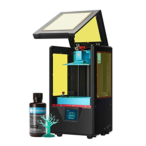 ANYCUBIC Photon S 3D Printer, UV LCD Resin Printer with Dual Z-axis Linear Rail and Upgraded UV Module & Print Quietly and Off-line Printing, Build Size 4.53'(L) x 2.56'(W) x 6.49'(H), Black