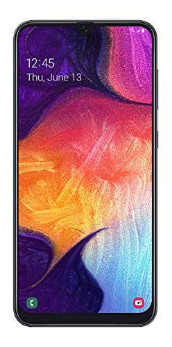 Samsung Galaxy A50 US Version Factory Unlocked Cell Phone with 64GB Memory, 6.4' Screen, Black, [SM-A505UZKNXAA]