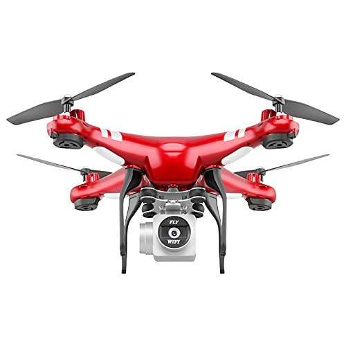 WLIKKS 2021 Latest 4K Camera Rotation Waterproof Professional Rc Drone, Drone with 4K/1080p/720P Camera for Kids Adults, Quadcopter Helicopter for Beginner with Altitude Hold (1080P, Red)
