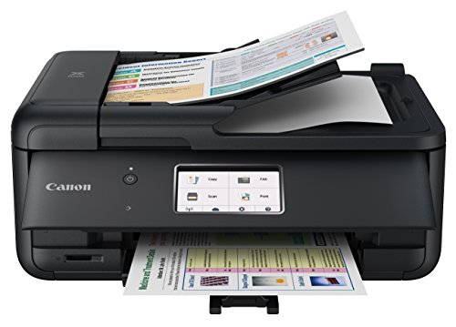 Canon TR8520 All-In-One Printer For Home Office |Wireless | Mobile Printing | Photo and Document Printing, AirPrint(R) and Google Cloud printing, Black