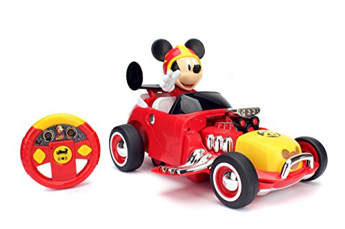Jada Toys Disney Junior Mickey & The Roadster Racers Transforming Radio Control Car Vehicle, 14', Red, 98086