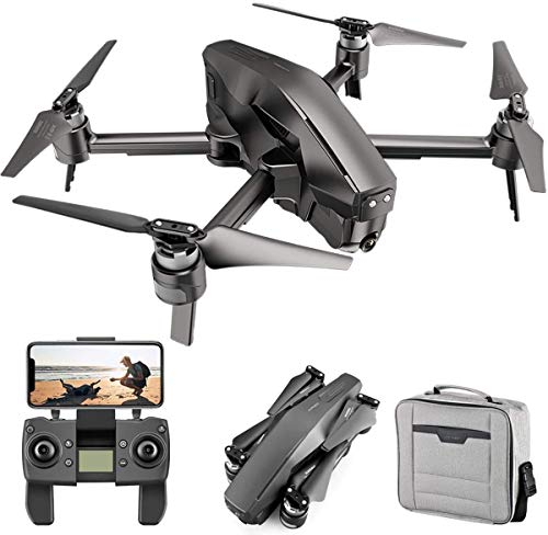 GPS 4K Drone with FHD Transmission FPV Camera Live Video Drone for Adults Quadcopter with Brushless Motor, Auto Return Home, Follow Me, 30 Minutes Flight Time, Black