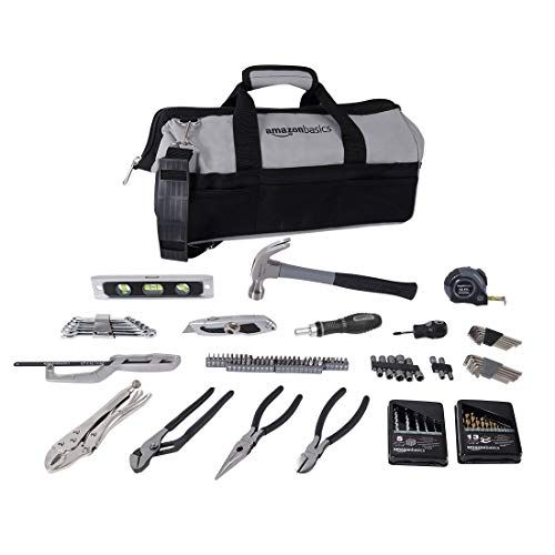 Amazon Basics 115 Piece Home Repair Tool Kit Set With Bag