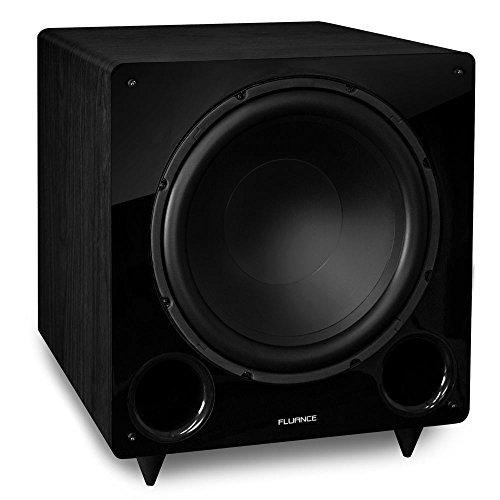 Fluance DB12 12-inch Low Frequency Ported Front Firing Powered Subwoofer for Home Theater & Music (Black)