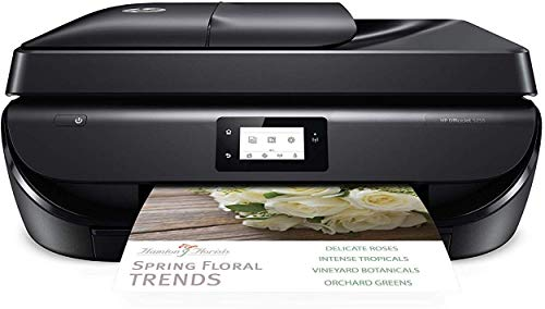 HP OfficeJet 5255 Wireless All-in-One Printer, HP Instant Ink, Works with Alexa (M2U75A), Black