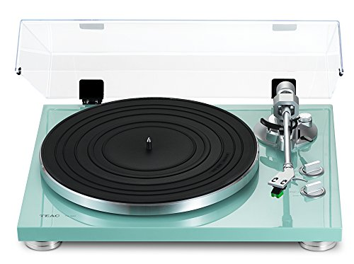 TEAC TN-300 Turntable with Built-in Pre-amplifier & USB Output (Turquoise)