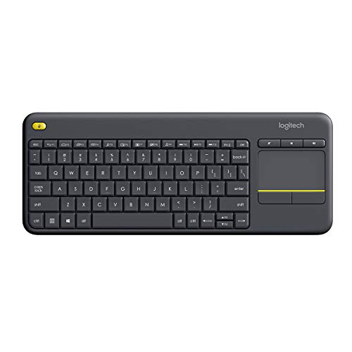 Logitech K400+ Keyboard, UK Wireless Touch, Black, 920-007143 (Wireless Touch, Black)