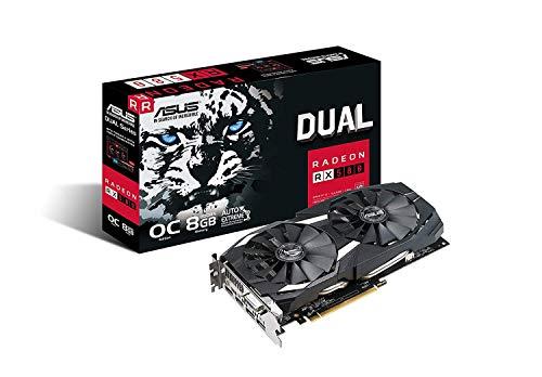 ASUS Radeon RX 580 8GB Dual-Fan OC Edition GDDR5 DP HDMI DVI VR Ready AMD Graphics Card (DUAL-RX580-O8G)