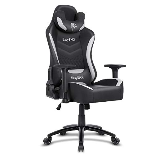 EasySMX Gaming Chair Ergonomic Racing Style High Back PC Computer Game Chair, Heavy Duty Big and Tall Reclining Adjustable Swivel Waist Tilting Office Desk Chair Video Game with Headrest and Footrest