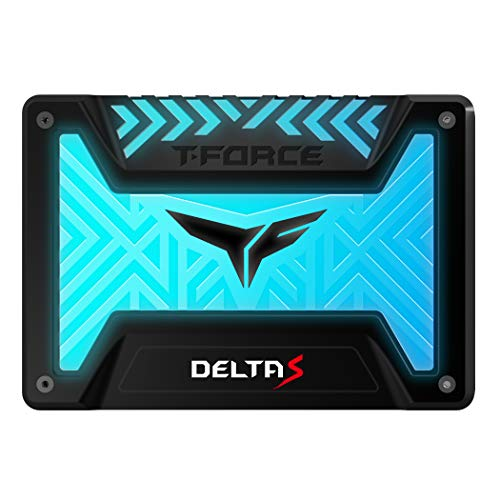 TEAMGROUP T-Force Delta S RGB 500GB 2.5 inch SATA III 3D NAND Internal Solid State Drive SSD(12V) - Black