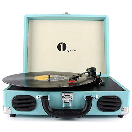 1byone Wireless Turntable HiFi System with 36 Watt Bookshelf Speakers, Vinyl Record Player with Magnetic Cartridge