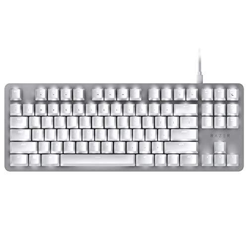 Razer BlackWidow Lite TKL Tenkeyless Mechanical Keyboard : Orange Key Switches - Tactile & Silent - White Individual Key Lighting - Compact Design - Detachable Cable - Mercury White, one Size