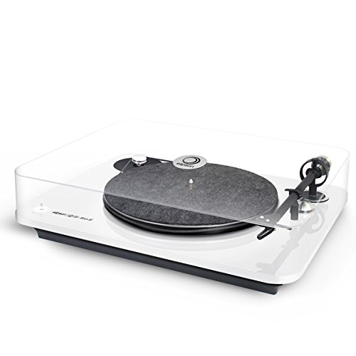elipson Omega 100 RIAA 3-Speed Turntable with Built-in Preamp, Bluetooth, and USB (White)