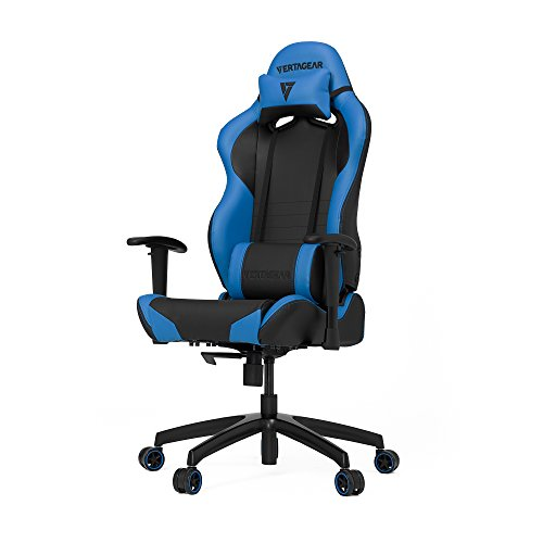 VERTAGEAR Gaming Chair Racing Seat, S-Line Slim SL2000 BIFMA Cert, Black/Blue