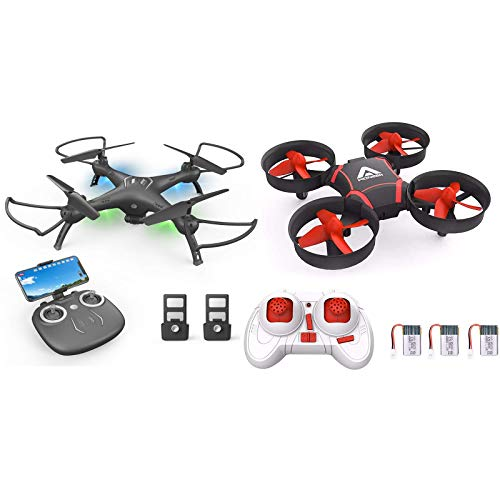Drone with Camera 1080P HD & Kids Drones, Toss to Launch with Smart APP Trajectory Flight Altitude Hold One Key Take Off/Landing Headless 360°Flip Camera Drone 2 Batteries