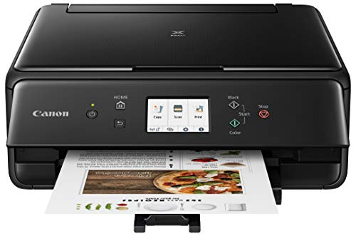 Canon 2986C002 PIXMA TS6220 Wireless All In One Photo Printer with Copier, Scanner and Mobile Printing, Black, Amazon Dash Replenishment enabled
