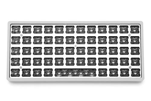 Drop + OLKB Preonic Keyboard MX Kit V3 — Compact Ortholinear Form Factor, Programmable QMK PCBA, Kaihua Hotswap Sockets, USB-C, Anodized Aluminum Case, (Silver)