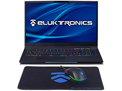 Eluktronics MECH-17 G1Rx Slim & Light NVIDIA GTX 1660Ti VR Ready Gaming Laptop with Mechanical RGB Keyboard Intel i7-9750H 17.3' 144Hz 512GB NVMe SSD 16GB RAM