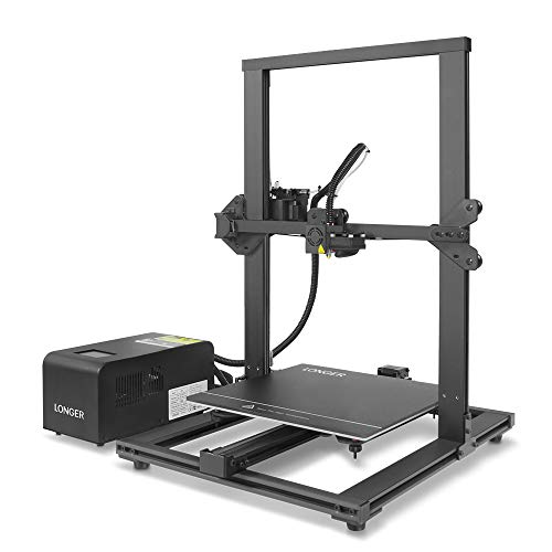 LONGER LK1 90% Pre-Assembled 3D Printer with Large Build Size 300x300x400mm, Full Touch Screen, Filament Detector, Resume Printing, Full Metal Frame (Black)