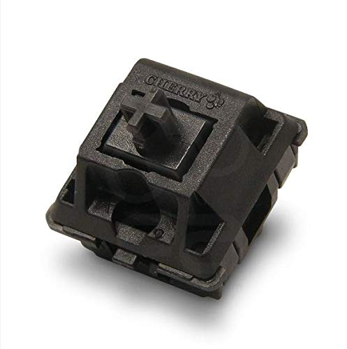 Cherry MX Black Key switches (10 Pieces)- MX1AG1NN | Plate Mounted | Linear Switches for Mechanical Keyboard.