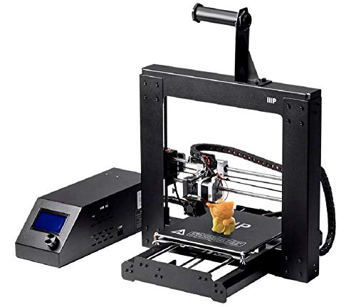 Monoprice-113860 Maker Select 3D Printer v2 With Large Heated (200 x 200 x180 mm) Build Plate + Free Sample PLA Filament And MicroSD Card Preloaded With Printable 3D Models, Black